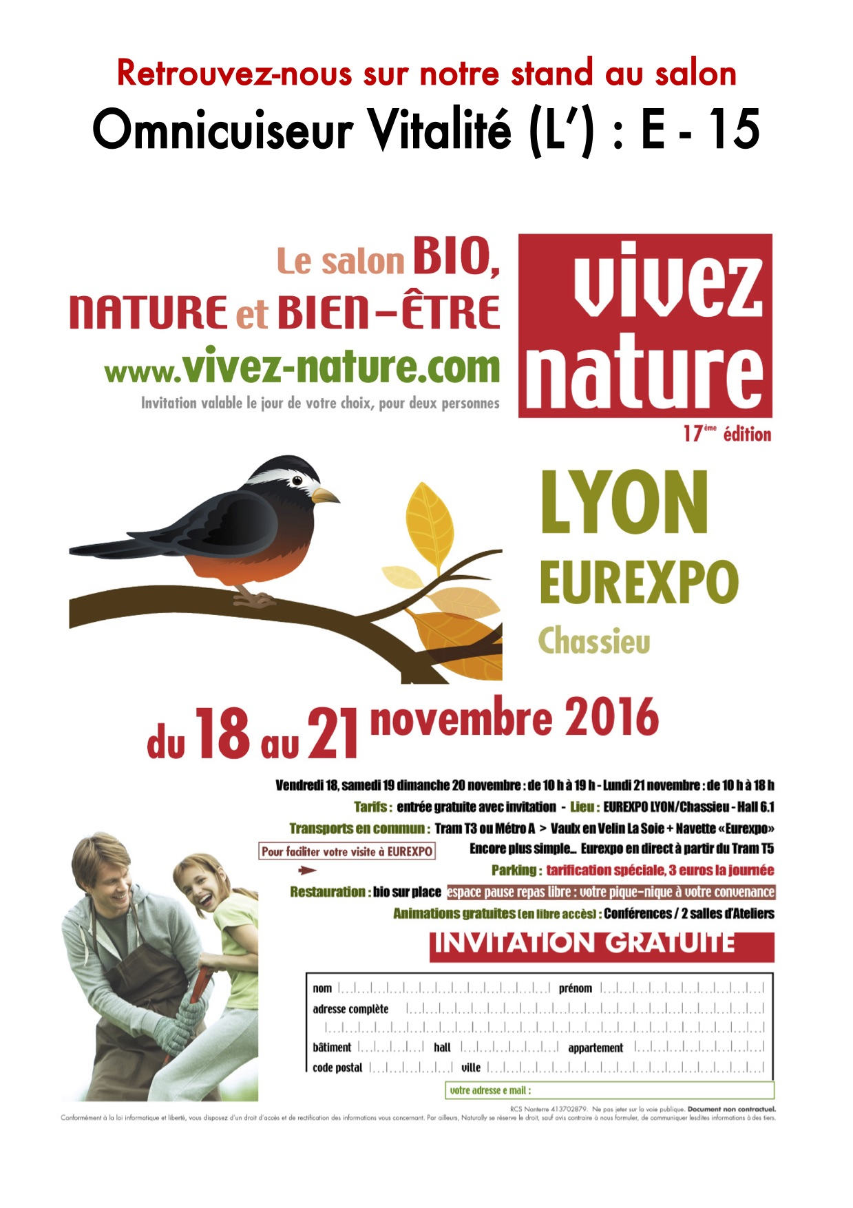 Salon vivez nature 2016 lyon l 39 omnicuiseur vitalit for Salon lyon 2016